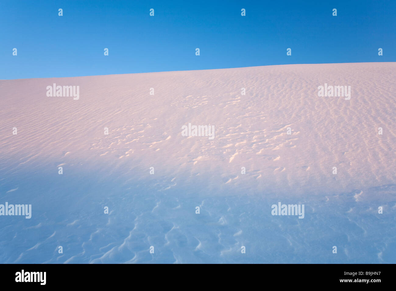 Snowy hill slope - Stock Image