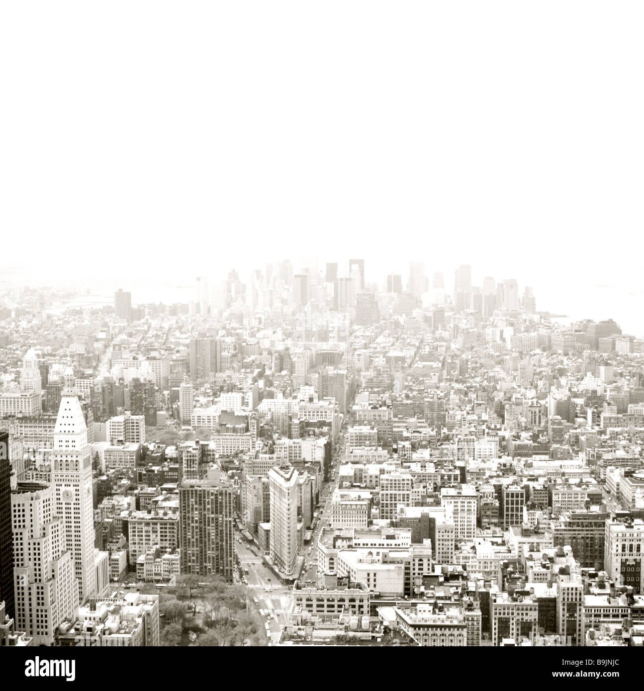 usa New York city city-overview s/w [M] North America city metropolis city view high-rises skyscrapers urbanity - Stock Image