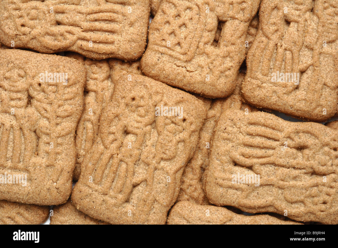 Speculaas a type of shortcrust biscuit - Stock Image