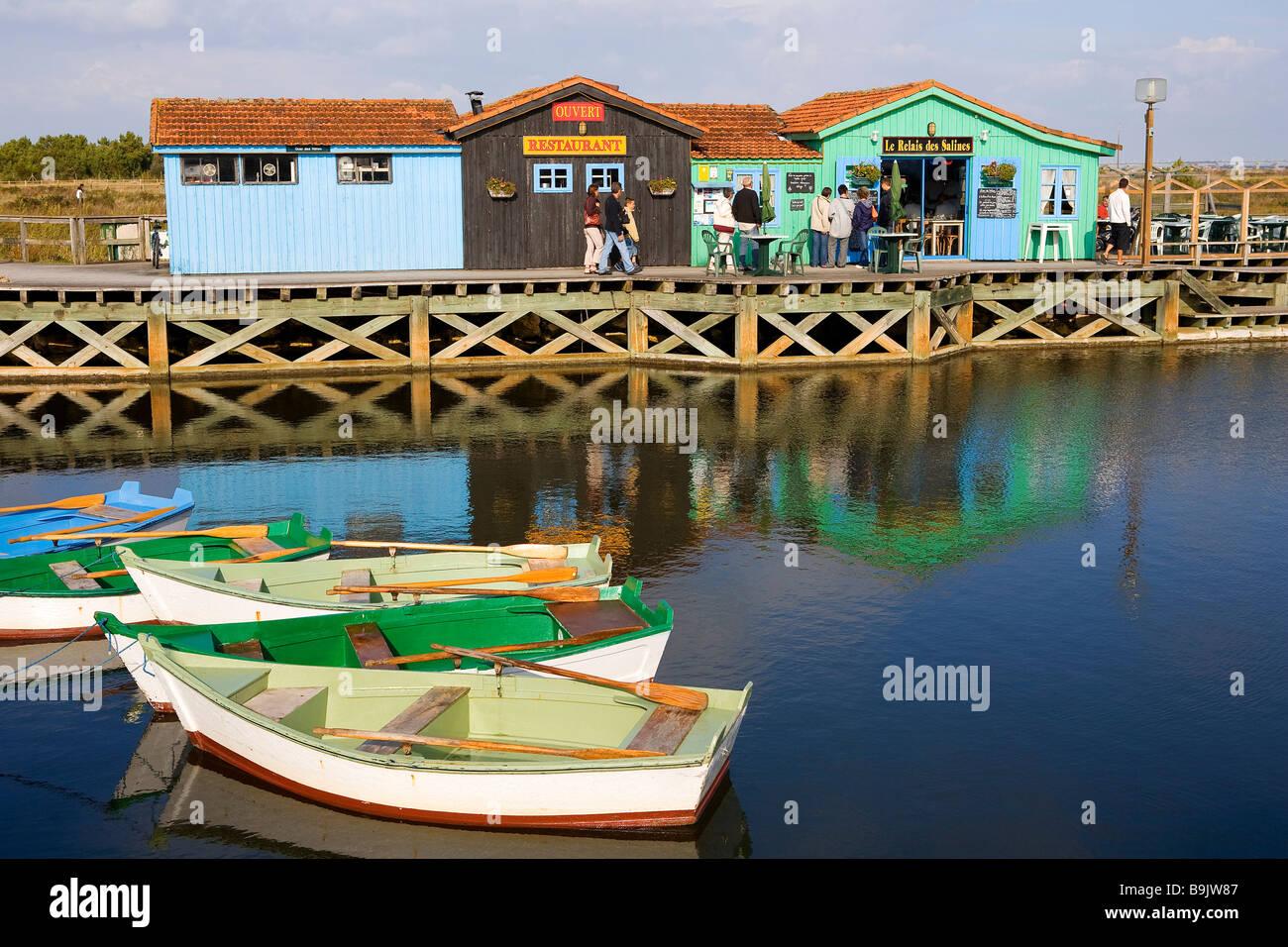 France Charente Maritime Ile D Oleron Port Des Salines And Its