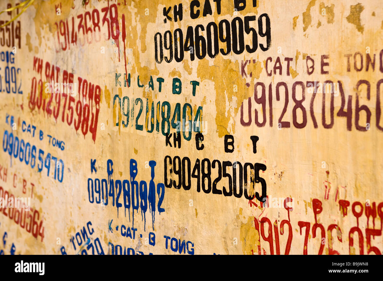 Wall Phone Advertising Business Numbers Stock Photos & Wall Phone ...
