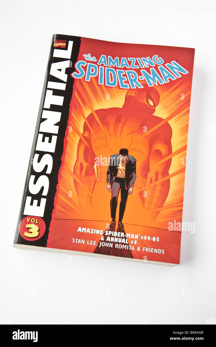 Paperback book - The Amazing Spider-Man Essential Collection Volume 3. - Stock Image