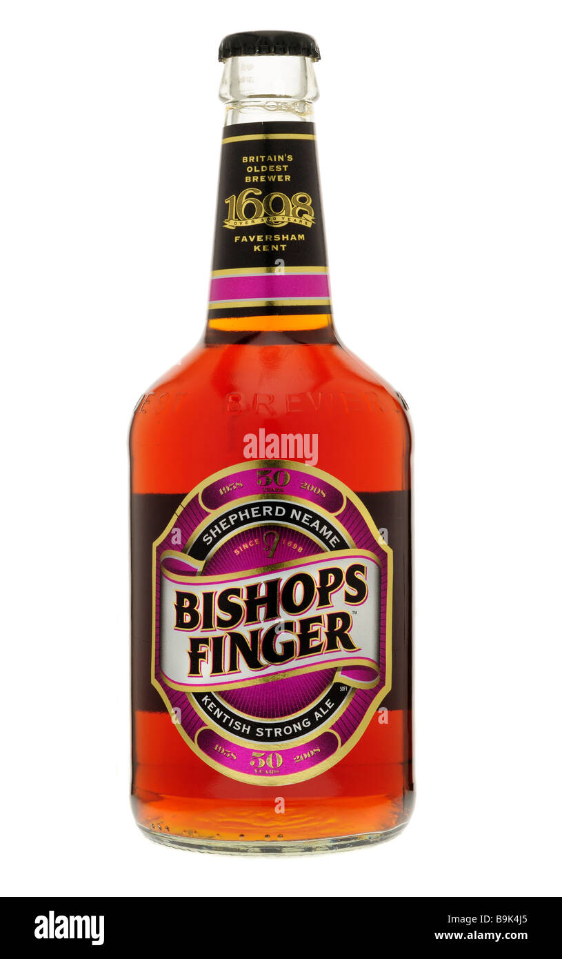 Bottle of Bishops Finger - Stock Image