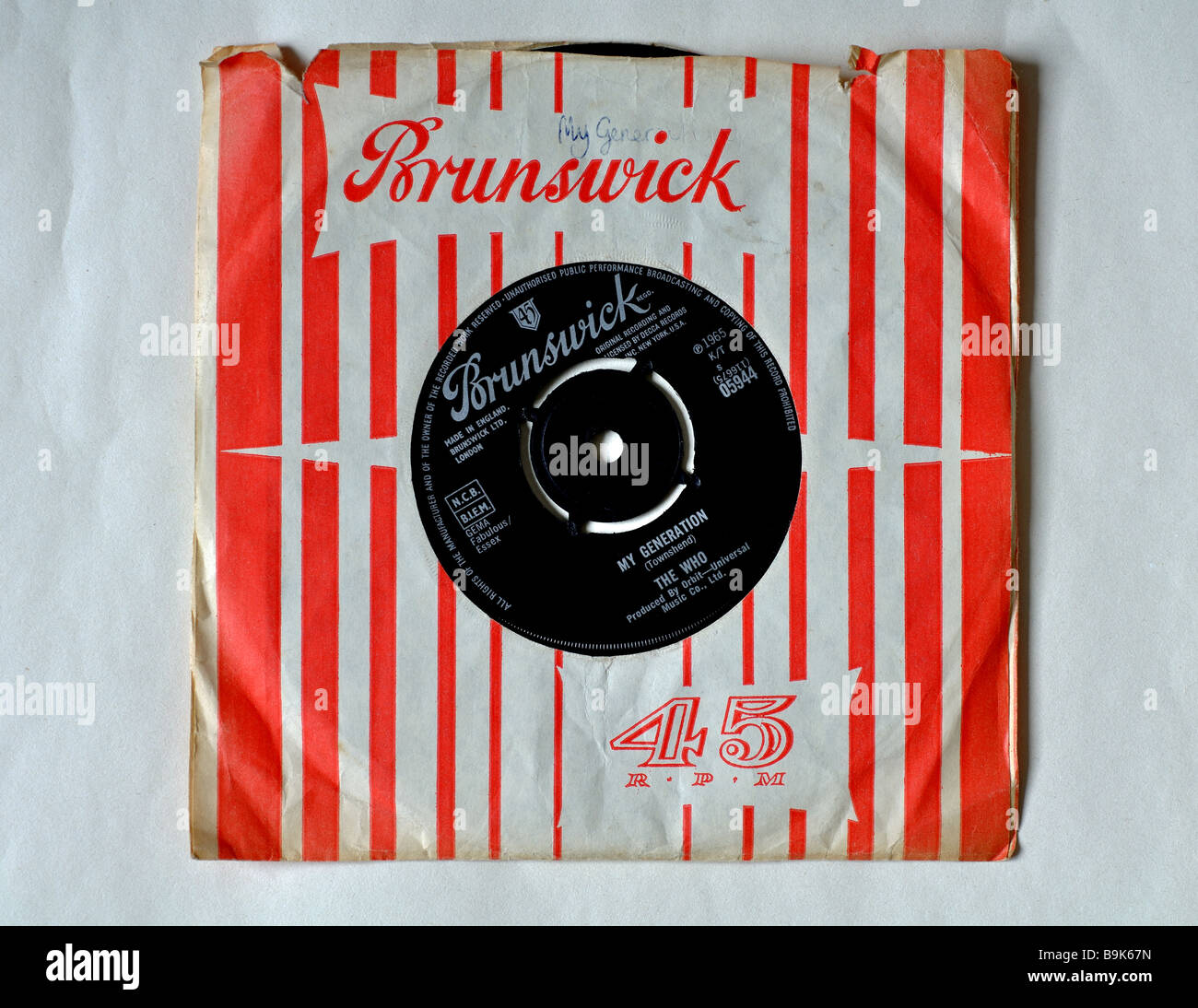 Vinyl record, 'My Generation' by The Who - Stock Image