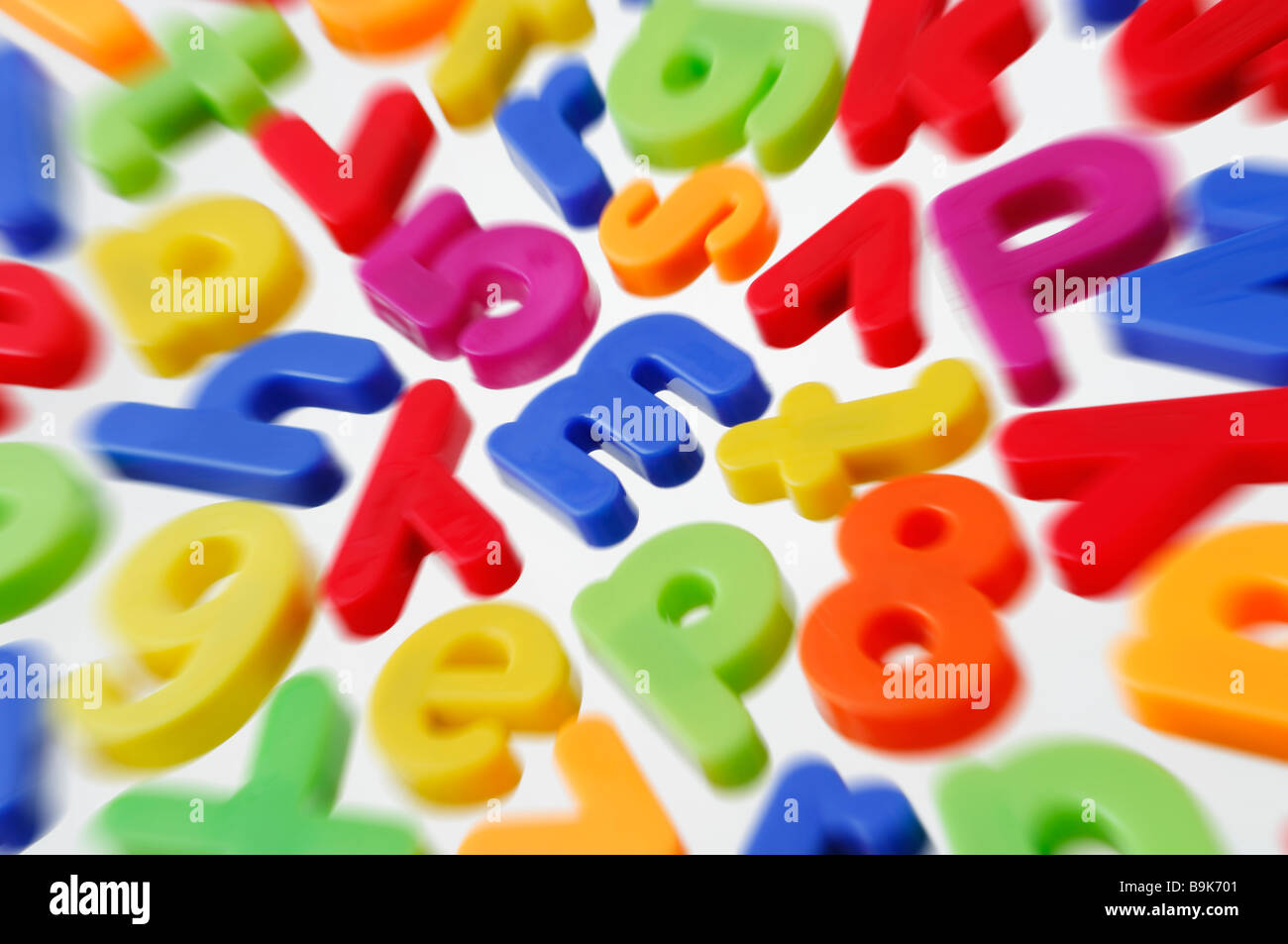 Magnetic Letters - Stock Image