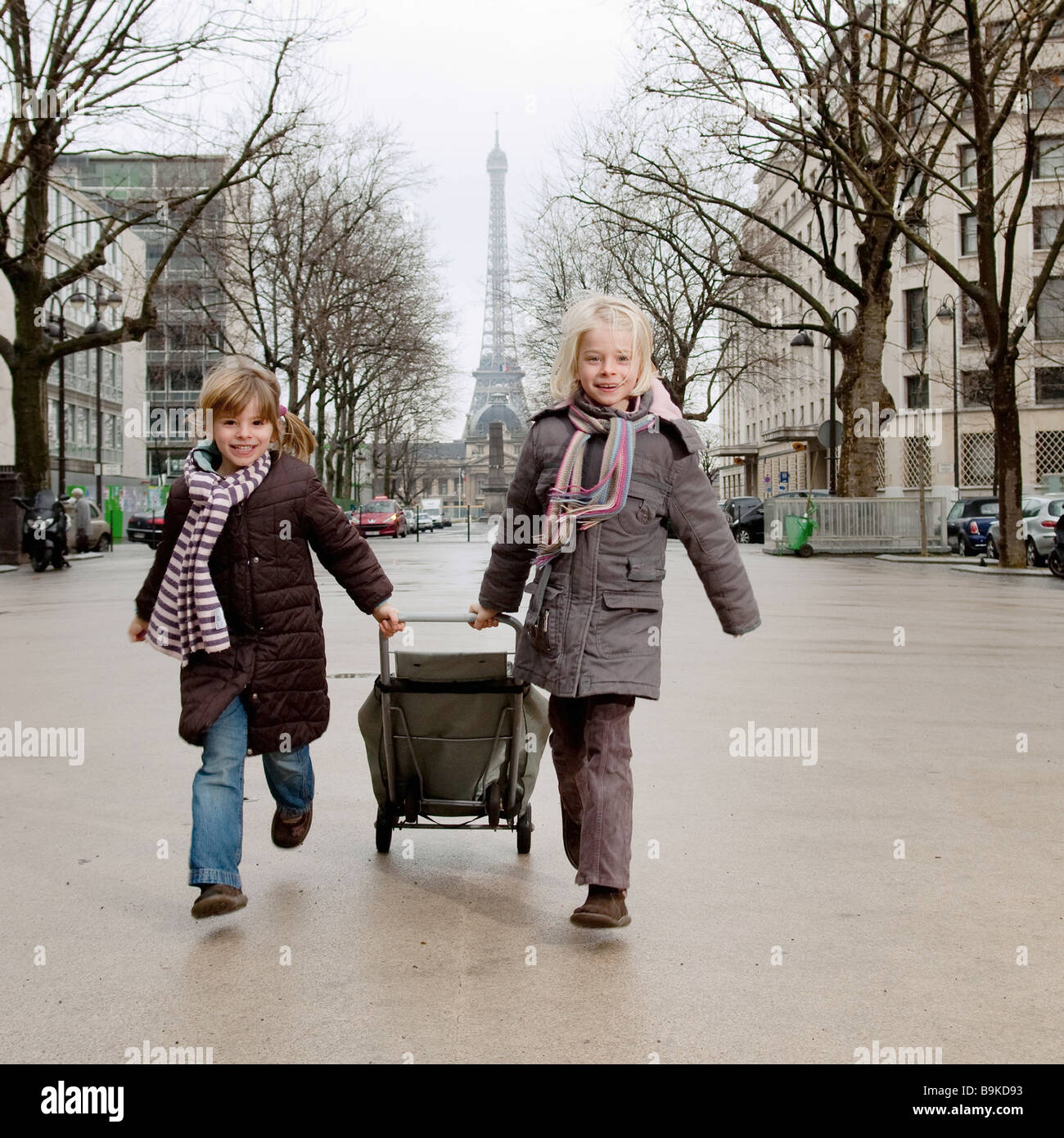 Two sisters going to market - Stock Image