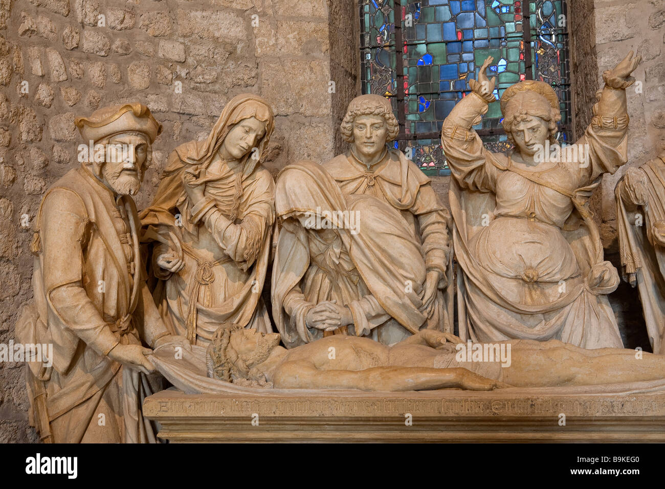 France, Marne, Reims, Saint Remy Basilica, entombment - Stock Image
