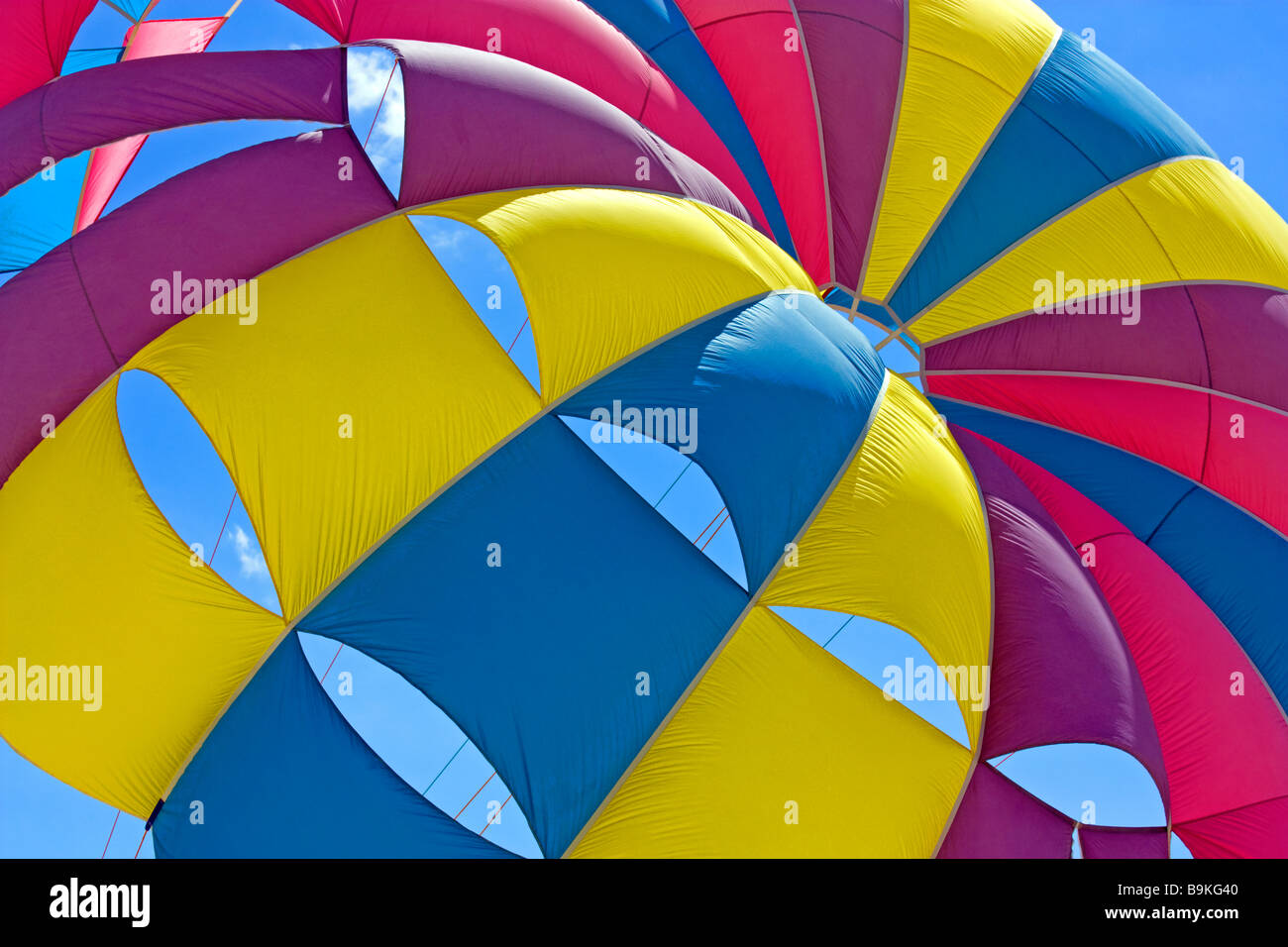 Detail of a Parasail Canopy in Albena Stock Photo