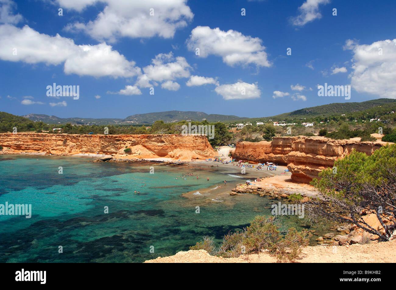 Spain, Balearic Islands, Ibiza, Cala Sa Caleta - Stock Image