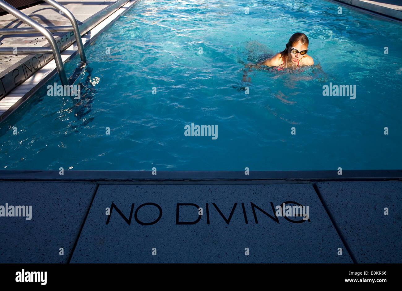 United States, New York City, Manhattan, Gansevoort Hotel, swimming