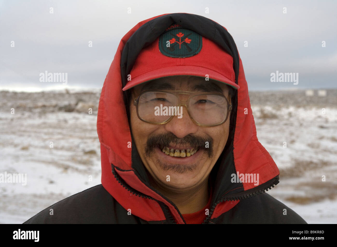Canadian Ranger on training exercise, portrait, Canadian Arctic, Canada Stock Photo