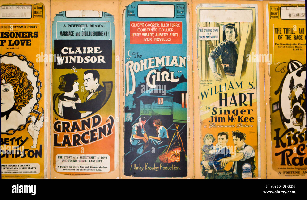 Old Play Posters - Stock Image