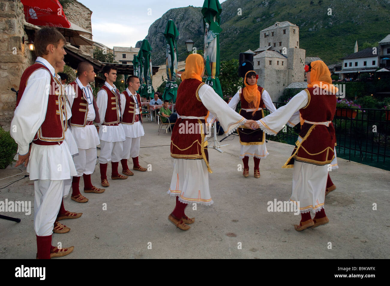 Bosnia and Herzegovina, Mostar, folk dances - Stock Image