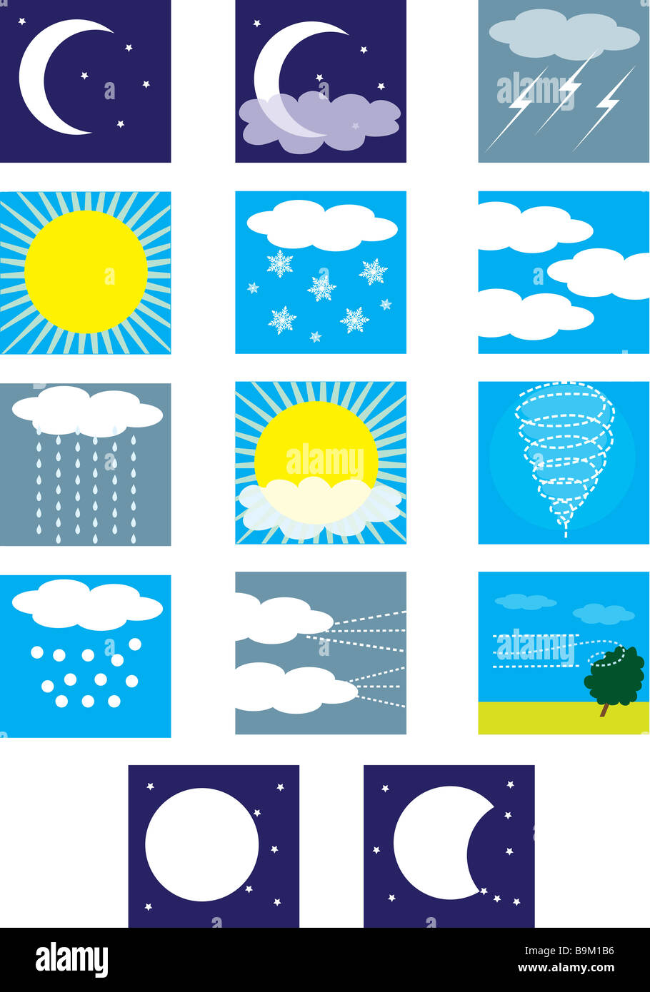 Weather Symbols Stock Photos Weather Symbols Stock Images Alamy
