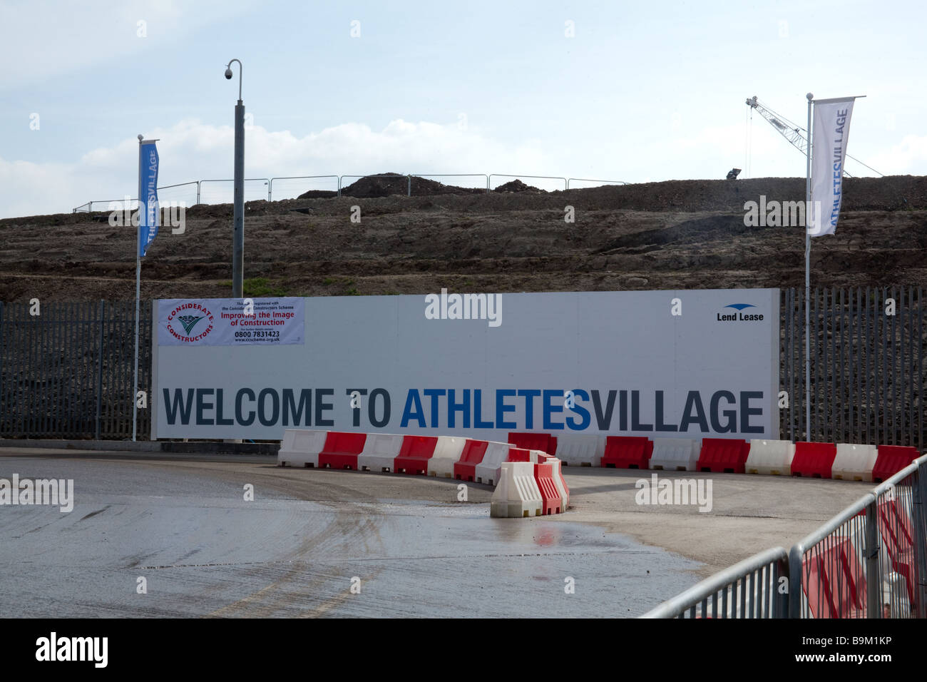 The Athletes village for the London 2112 Olympics under construction March 2009 - Stock Image