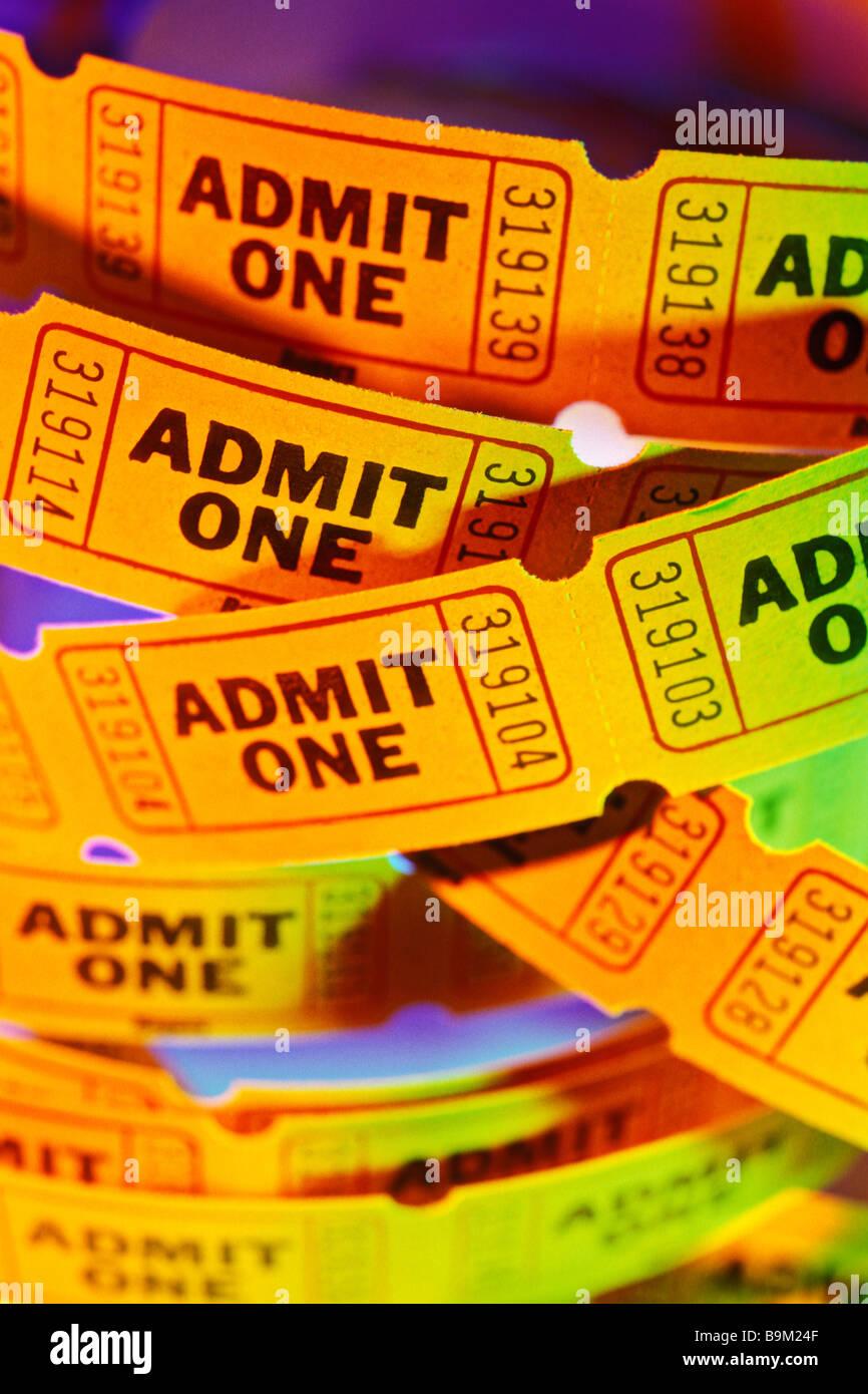Admit one ticket - Stock Image