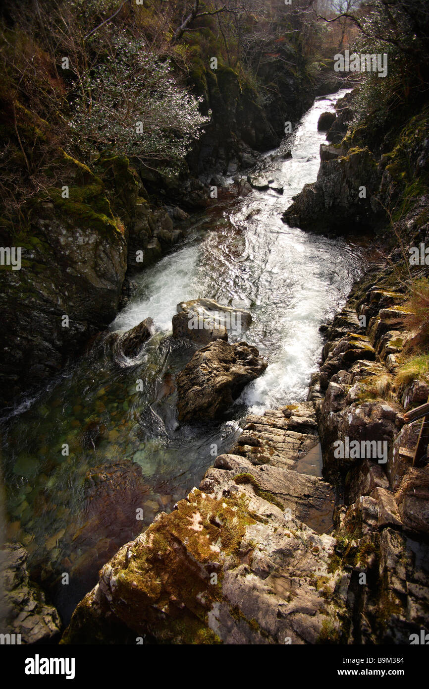 Mountain stream,looking down. - Stock Image