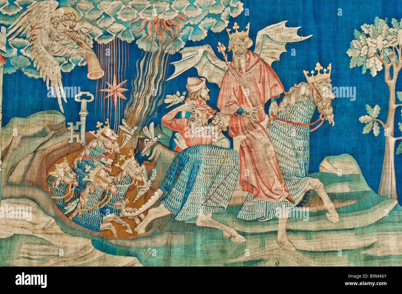 France, Maine et Loire, Angers, castle, the Apocalypse tapestry, for publishing authorization contact Gerard Cieslik - Stock Image