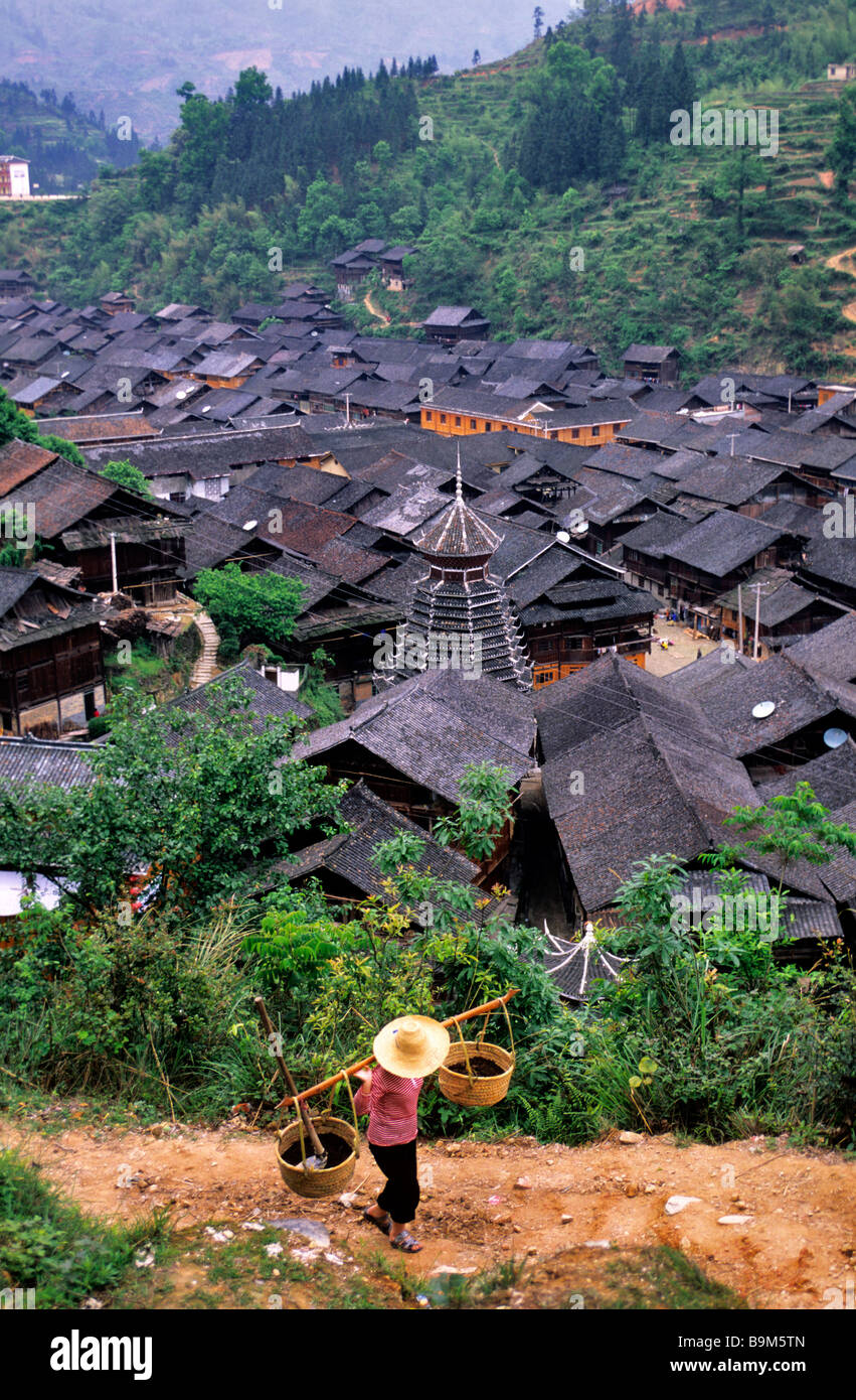 China, Guizhou province, Zhaoxing Stock Photo
