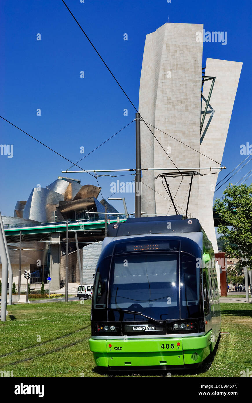 Spain, Biscaye province, Spanish Basque Country, Bilbao, the tram (Euskotren) - Stock Image
