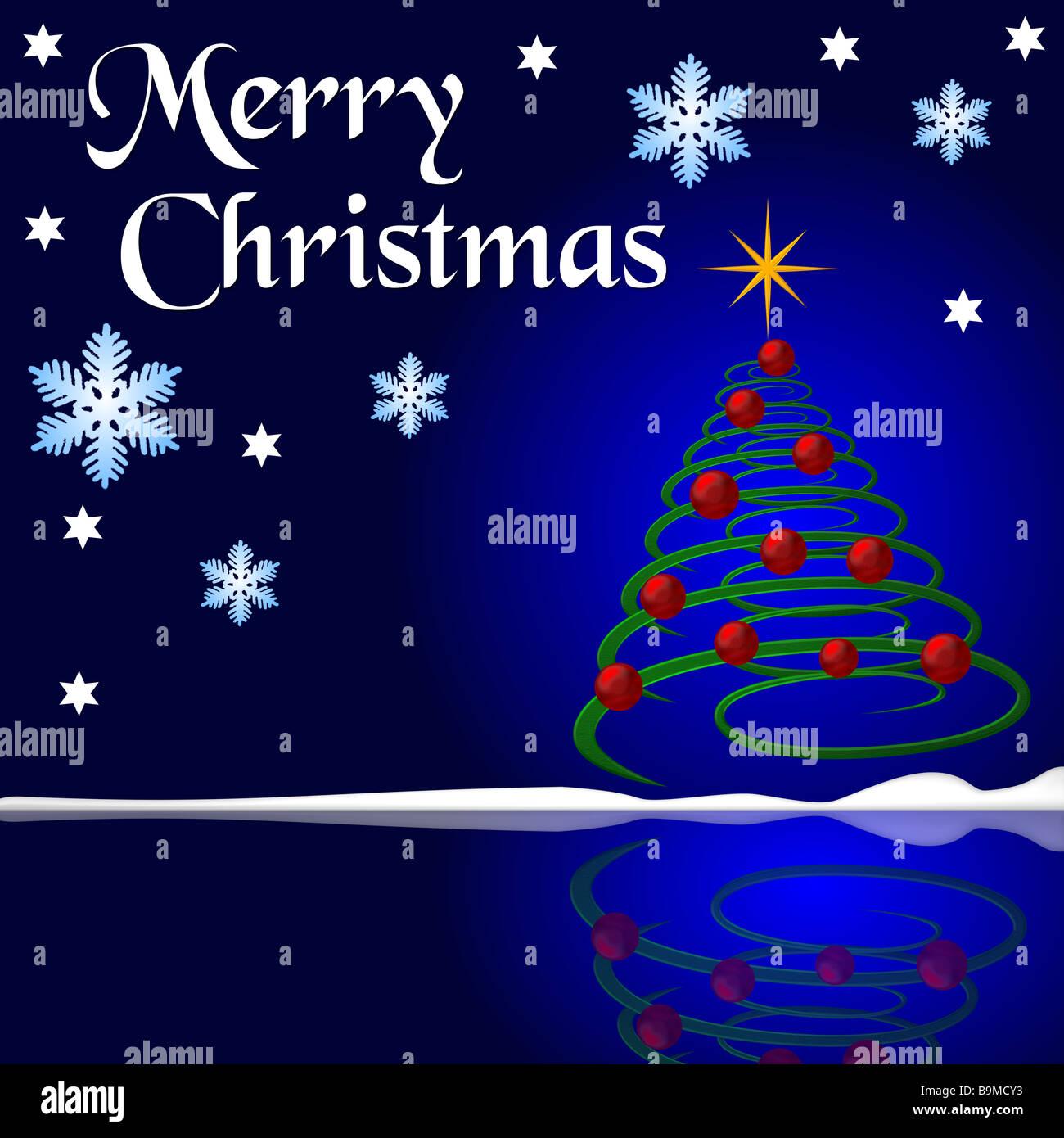 christmas card saying merry christmas Stock Photo