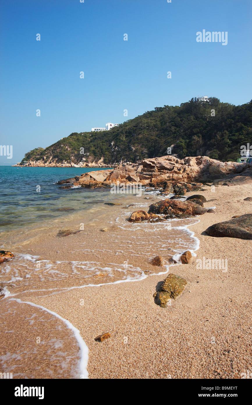 Afternoon Beach, Cheung Chau, Hong Kong - Stock Image