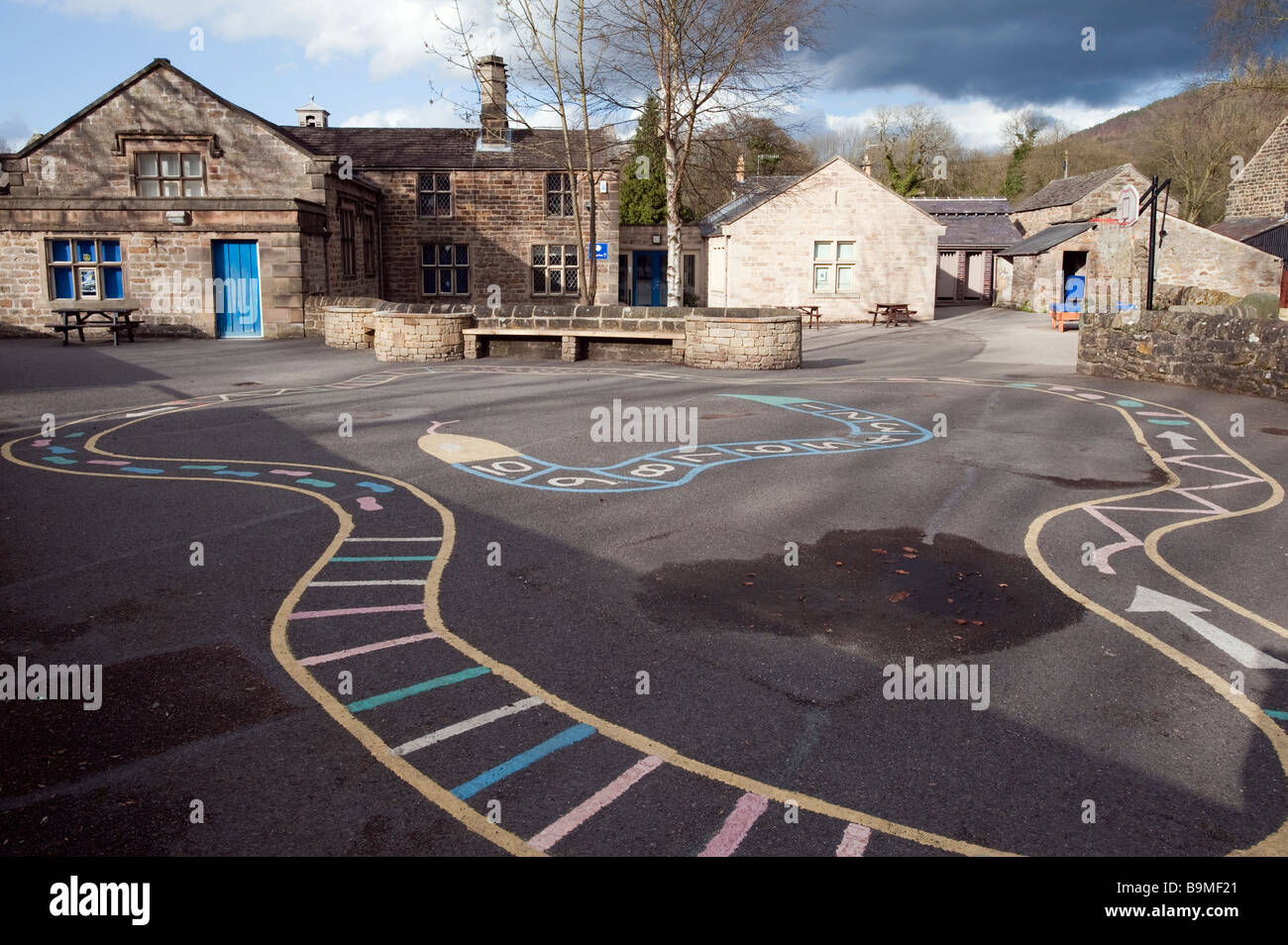 Schoolyard and playground markings - Stock Image