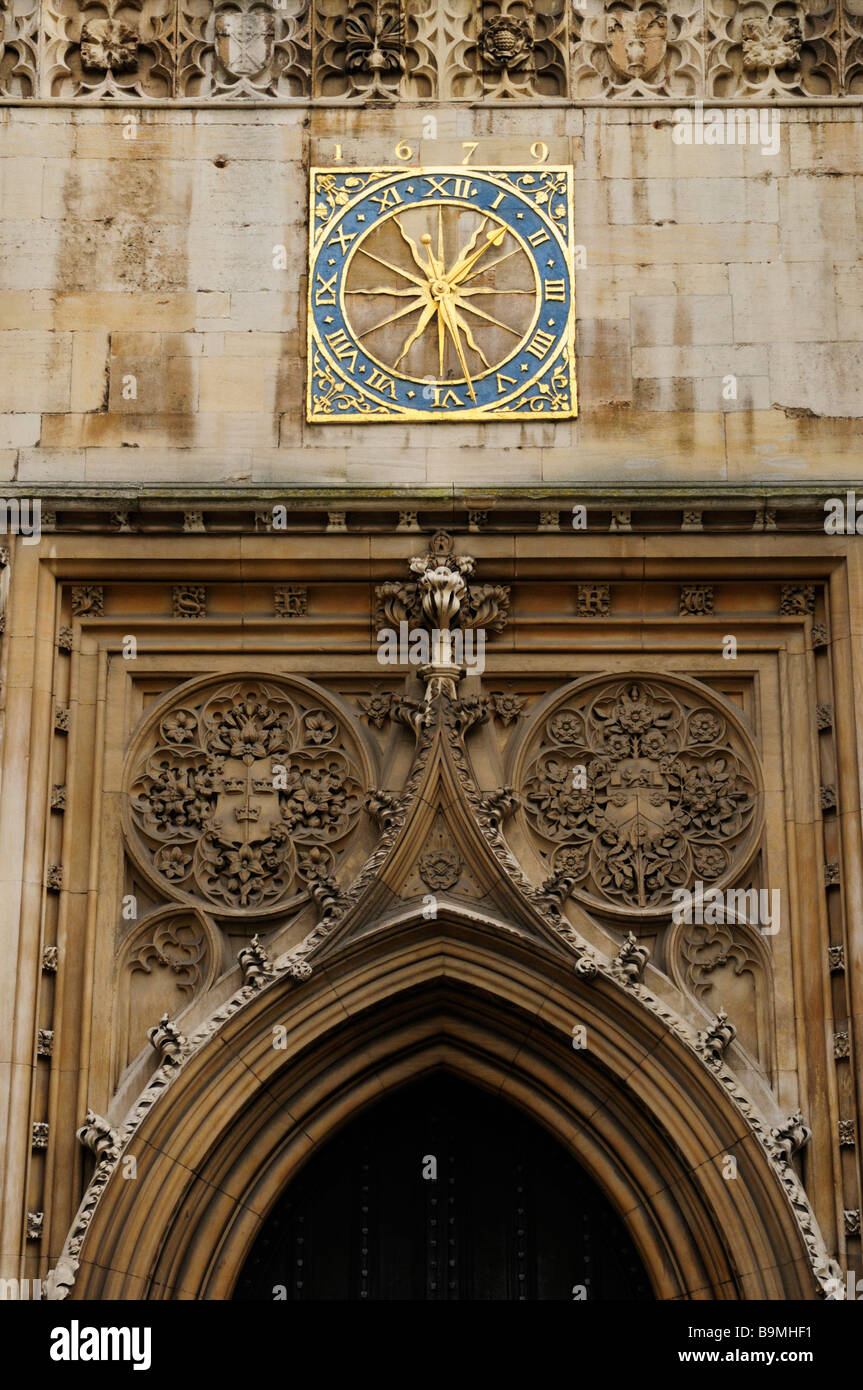 Detail of Great St Marys Church Tower, Cambridge England UK - Stock Image