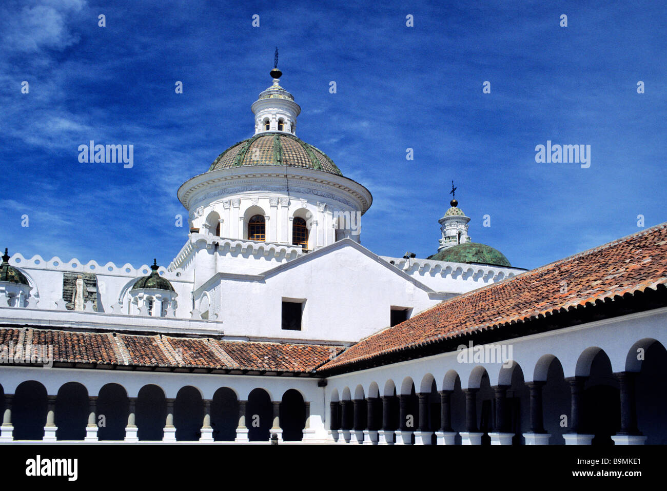 Ecuador, Pichincha province, Quito, the Merced Convent in the historical center classified as World Heritage by - Stock Image