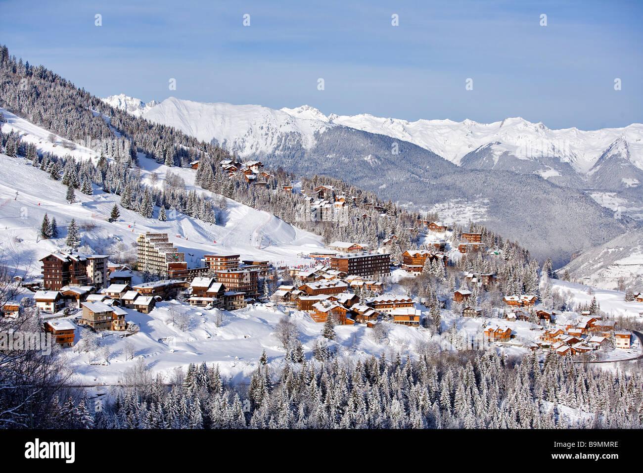 France, Savoie, Courchevel 1550 - Stock Image