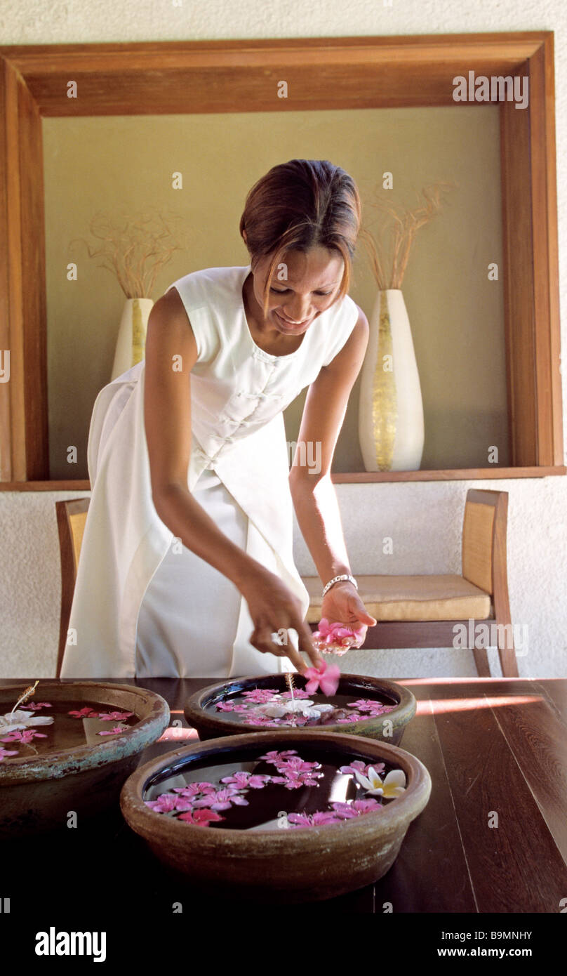 Mauritius, Grand Gaube, Hotel Legends, 4 star hotel and spa created according to Feng Shui guidelines - Stock Image