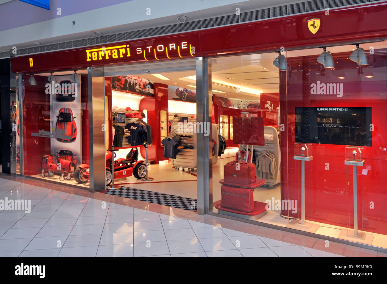 Abu Dhabi Marina shopping mall Ferrari store and shop front Stock ... 730ffdd18c