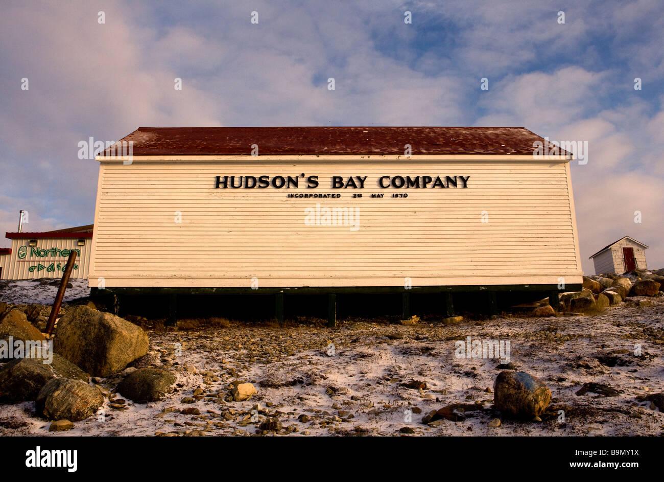 Hudson's Bay Company store in Taloyoak inuit settlement Nunavut, Canadian arctic, Canada - Stock Image