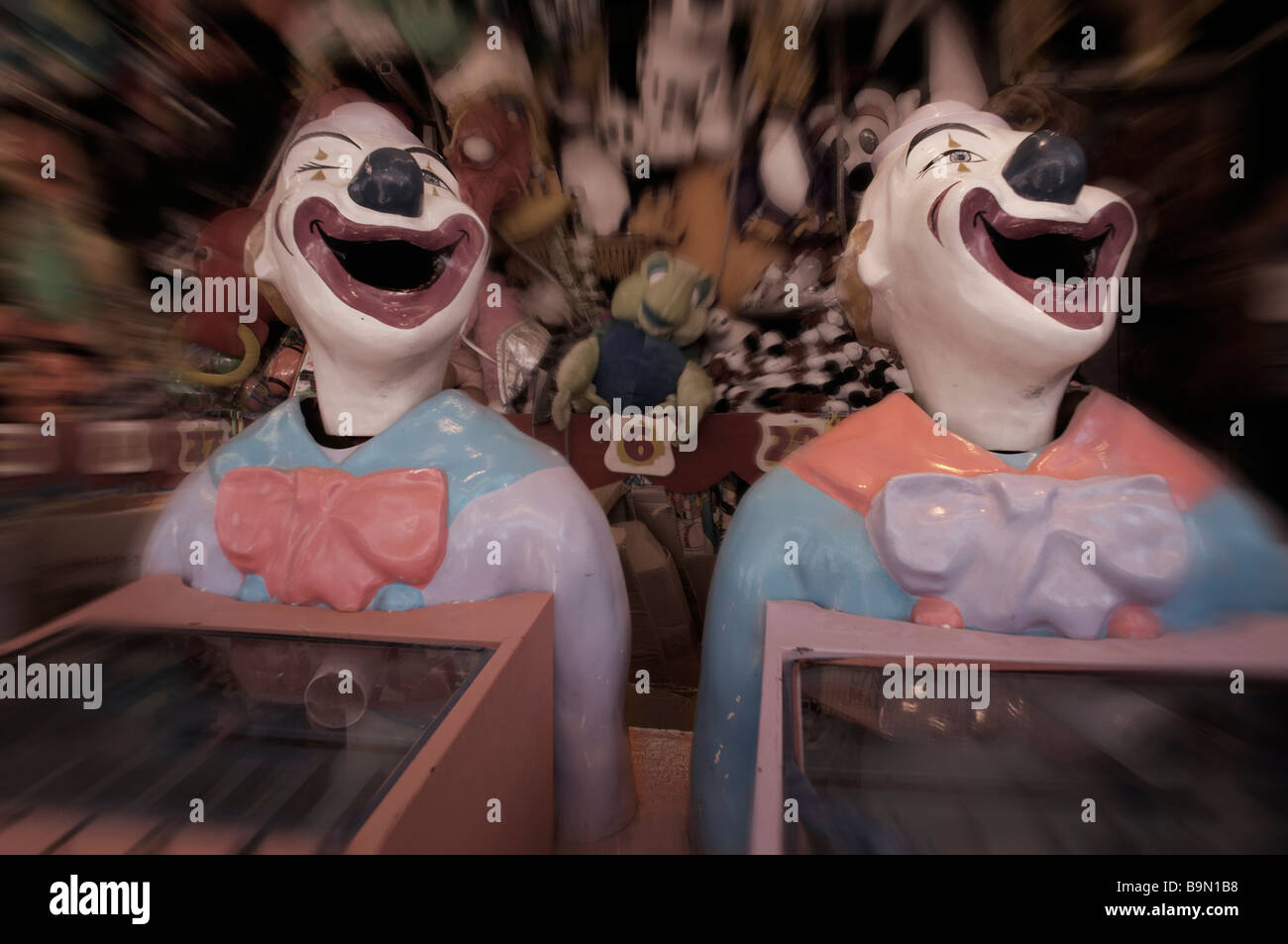 Sideshow clowns - Stock Image