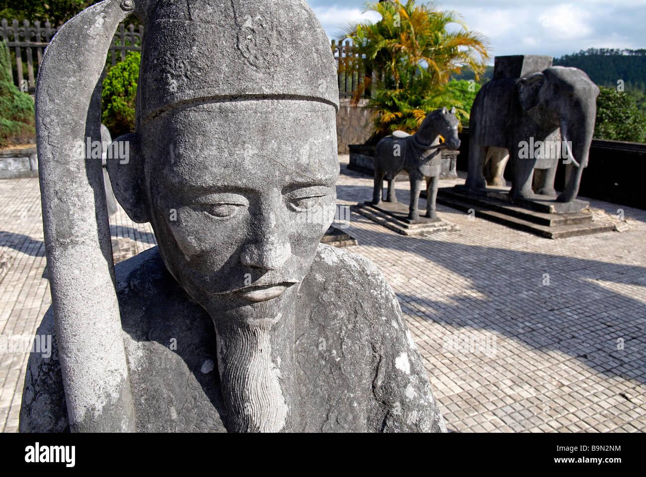 Vietnam, Thua Thien Hue province, Hue, Khai Dinh tomb - Stock Image