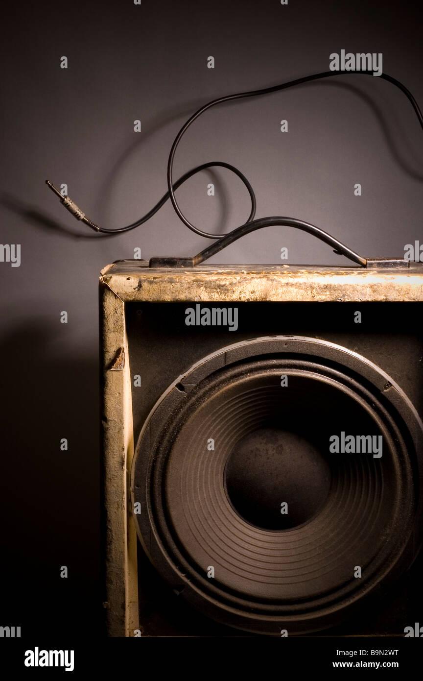Old hi-fi speaker - Stock Image