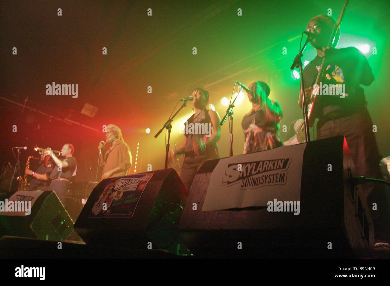 Reggae legend Max Romeo performing live - Stock Image