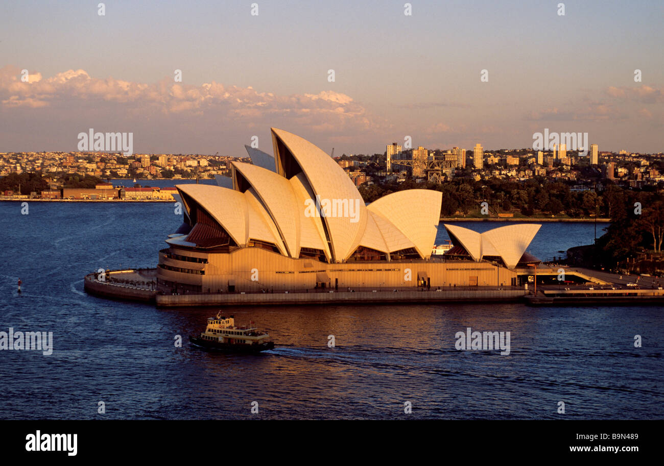 Australia, New South Wales, Sydney, Sydney Opera House by architect Jorn Utzon classified as World Heritage by UNESCO - Stock Image
