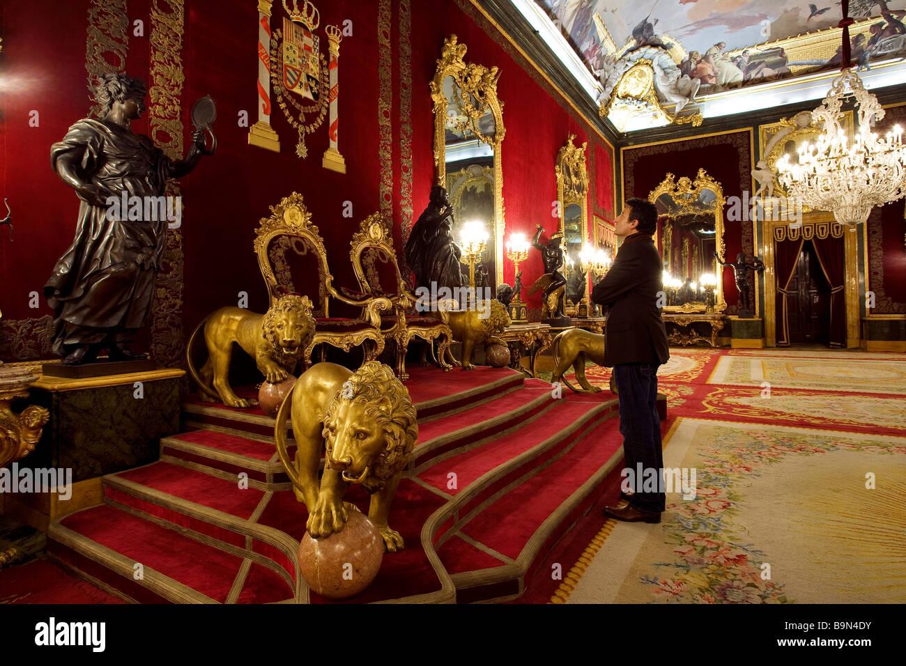 Palacio Real Madrid Throne Room Stock Photos Amp Palacio