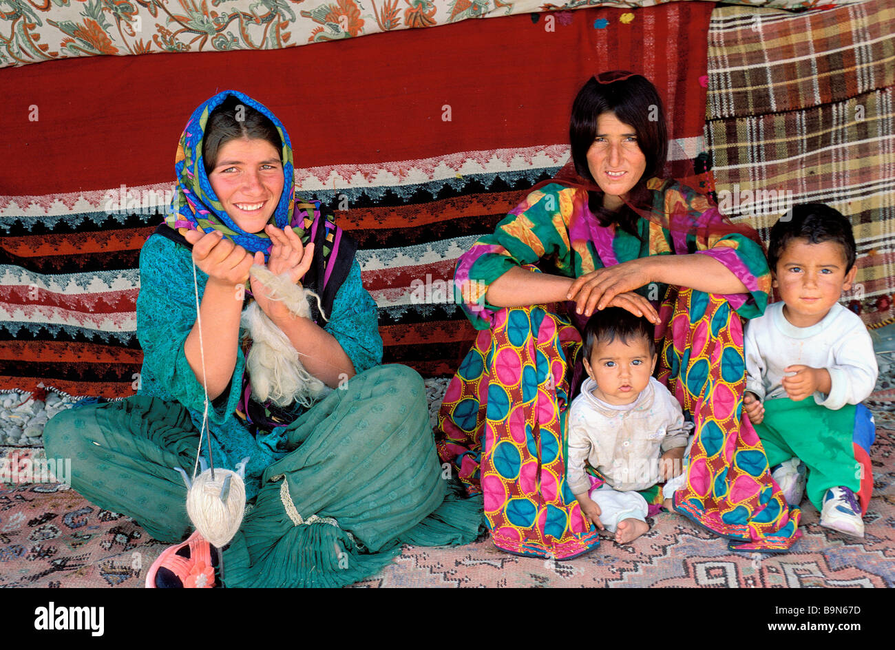 Iran, Fars Province, Qashqai Nomads - Stock Image