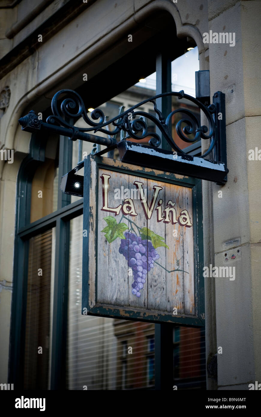 La Vina Spanish restaurant and wine bar on Deansgate Manchester city centre UK - Stock Image
