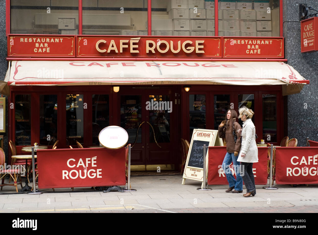 Cafe rouge on Deansgate Manchester city centre UK Stock Photo