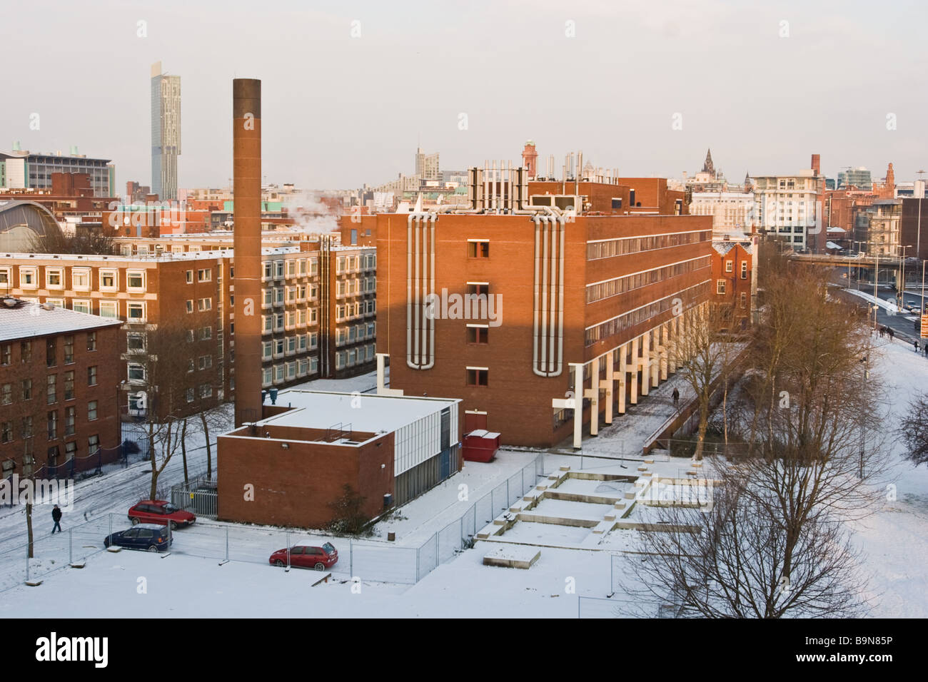 Materials Science Centre in winter with snow on ground The University of Manchester UK - Stock Image