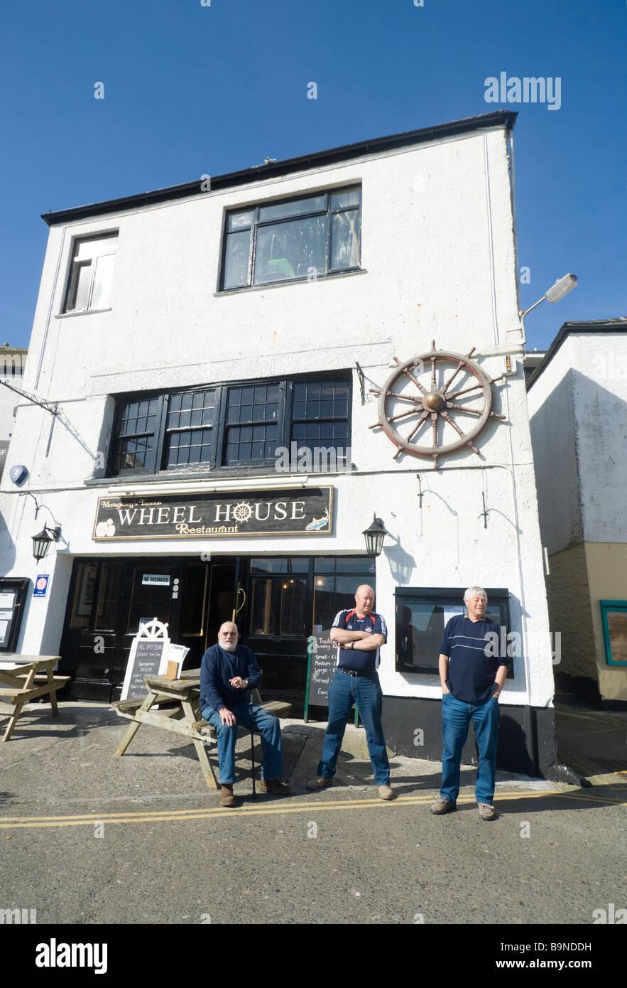 Wheel House Pub Mevagissey Cornwall UK - Stock Image