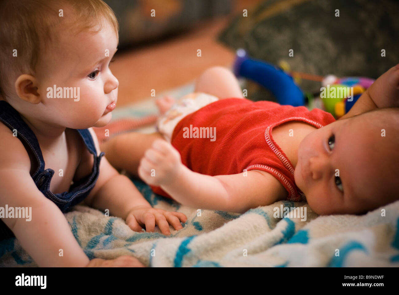 Two babies - Stock Image