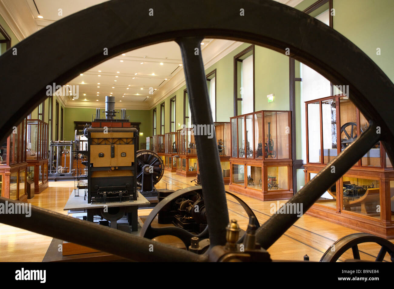 LENOIR ' S ENGINE IN ARTS ET METIERS MUSEUM PARIS - Stock Image