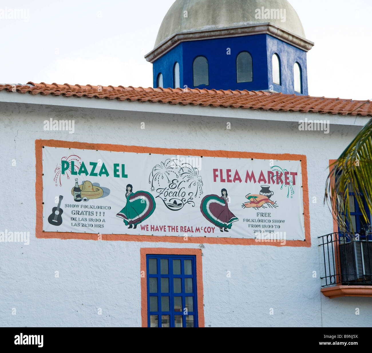Mexico Yucatan - Cancun zona hotelara or hotel zone main centre near the Forum shopping mall the fleamarket Stock Photo