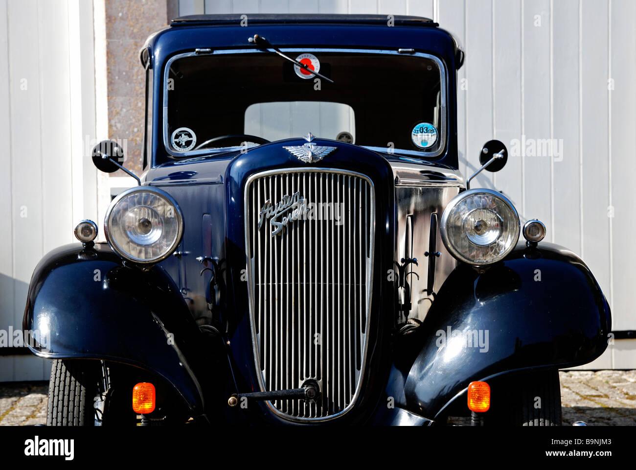 a vintage austin seven motor car - Stock Image