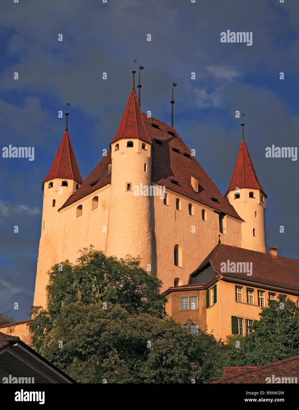 castle of Thun Berner Oberland Switzerland - Stock Image
