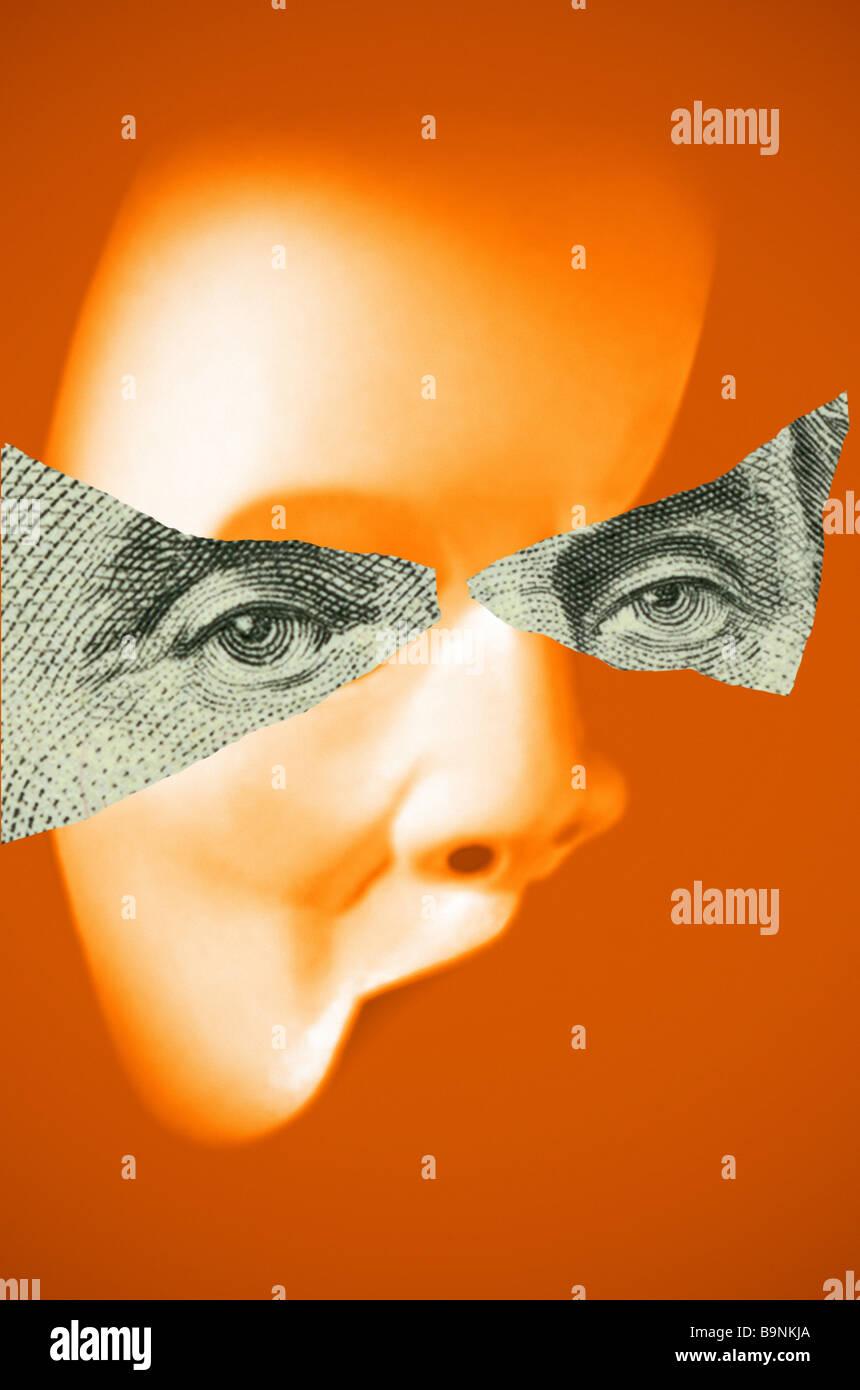 masked illustration Stock Photo